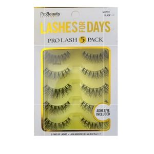 New without tags probeauty lashes 5 pack